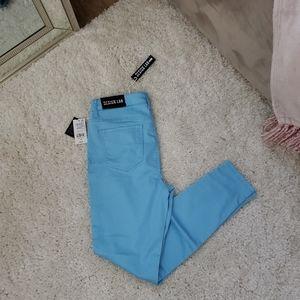 High waist skinny leg stretch jeans